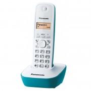 Panasonic KXTG1611 Teléfono Inalámbrico DECT Blanco/Verde