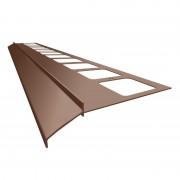 K100 Profil aluminiowy balkonowy 2.0m brązowy RAL 8019 - listwa balkonowa okapnikowa brązowa