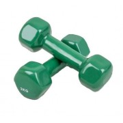 Gantere Dayu Fitness DY-PV-02-4, Vinil, 2 x 2 kg (Verde)