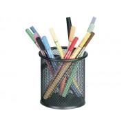 SUPORT INSTRUMENTE DE SCRIS MESH negru 1 compartiment Plasa metalica Suport instrumente de scris