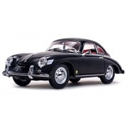 Sun Star 1957 Porsche 356A 1500 GS Carrera GT Coupe, Black - 1328 1/18 Scale Diecast Model Toy Car