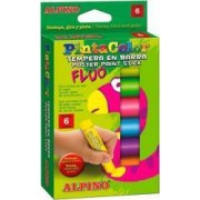 Creioane ALPINO PintaColor Tempera fluorescente 6 culori-cutie