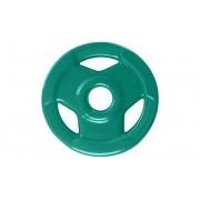 Anilha Sport Luxo Revestida - Verde - 3 Kg
