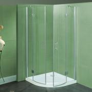 Box doccia semicircolare a due ante a battente Emma da 77/79 cm cristallo 6 mm