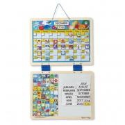 Calendar din lemn magnetic Melissa and Doug