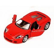 Porsche Carrera Gt, Red Kinsmart 5081 D 1/36 Scale Diecast Model Toy Car