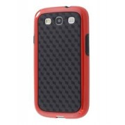 3D Design Protective Case for Samsung I9300 Galaxy S3 - Samsung Soft Cover (Red/Black)