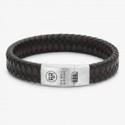 Rebel & Rose Braided Flat 925 Black-Earth Armband L