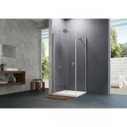 Huppe Design pure zijwand voor draaideur 80x200cm matzilver antiplaque glas 8p1012087322