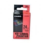 Bandă XR-24RD1, imprimarea negru de bază / roșu, laminat, 8m, 24mm