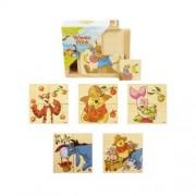 Puzzle de lemn Winnie Pooh BRIMAREX 4 piese