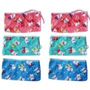 Saashika Baby Nappies/Longot Premium Quality(6 pc Set) (Plastic and Towel)