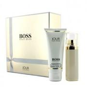 Boss Jour Coffret: Eau De Parfum Spray 50ml/1.6oz + Body Lotion 100ml/3.3oz 2pcs Boss Jour Комплект: Парфțм Спрей 50мл + Лосион за Тяло 100мл
