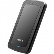 HDD extern ADATA, 1TB, HV300, 2.5, USB 3.1, Senzor protectie socuri, Criptare Date, Ultraslim, Negru