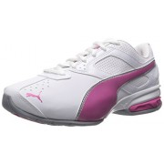 PUMA Women's Tazon 6 Wn's Fm Cross-Trainer Shoe, Puma White/ Fuchsia Purple/ Puma Silver, 5.5 M US