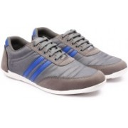 Andrew Scott Men's Brown Nylon/Synthetic Sneakers(Grey)