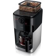 Philips HD7767/00 Grind & Brew Kaffeemaschine mit Mahlwerk schwarz metall