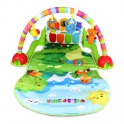 Toyshine Jungle Friends Musical Rainbow Baby Gym Activity Toy Mat