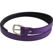 Jars Collections Girls Purple Artificial Leather Belt