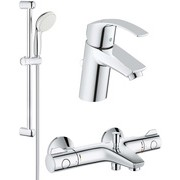Set complet baterii baie cada cu termostat Grohe Grohtherm 800(33265002,34567000,27853001)-Gro114