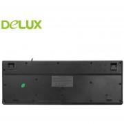 Delux K6010 Teclado Con Cable Teclado De Escritura Portátil De Oficina Con Llave Flotante - Negro