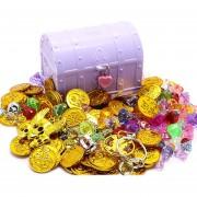 Cofre del tesoro pirata juguete - Púrpura L