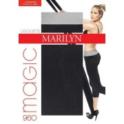 Bekväma leggings i bomull Magic från Marilyn, 180 DEN black-pink S/M