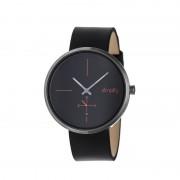 Simplify The 4400 Leather-Band Watch - Gunmetal/Black SIM4404