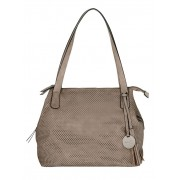 Taschenherz Shopper, Damen, beige, mit Perforation
