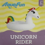 AquaFun Unicorn Rider - Inflatable Ride-On Pool Float