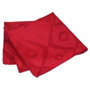 Linnea Lot de 3 serviettes de table 45x45 cm Jacquard 100% polyester BRUNCH rouge