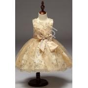 Złota sukienka dla małej księżniczki sukienki dla dziewczynek