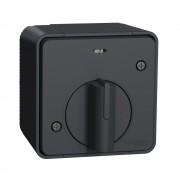 Mureva Styl IP55 vízmentes mechanikus időkapcsoló, antracitszürke, komplett szerelvény, falon kívüli, vízmentes (IP55) 10A 250V (Schneider Electric MUR35067)