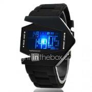 Heren Sporthorloge Digitaal horloge Polshorloge Digitaal LED LCD Kalender Chronograaf alarm Silicone BandZwart Wit Blauw Rood Bruin Groen