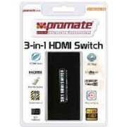 Promate proSwitch.H3- HDMI Mini Switch, 3 input