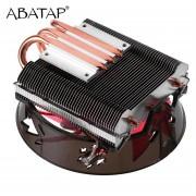 CPU Cooler Ultra Quiet Fan Pure Copper Heat Pipe CPU Hydraulic Chassis Fan - Rojo
