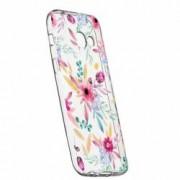 Husa Silicon Transparent Slim Happy Flowers Samsung Galaxy A3 2016