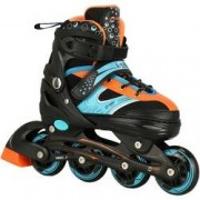 Spin Roller Patins Spin Roller Start New - In Line - Fitness - ABEC 7 - Ajustável - Adulto - PRETO/LARANJA