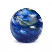 Kleine Kristalglazen Bal Dierenurn Elan Marble Blue (0.5 liter)