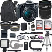 Canon EOS 77D DSLR Camera with Canon EF-S 18-135mm f/3.5-5.6 IS USM Lens + NEW VIDEO BUNDLE KIT + EXTRA MEMORY CARDS