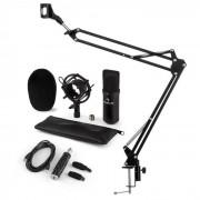 Auna CM001S set de micrófono V3 micrófono condensador adaptador USB brazo de micrófono negro (60002022-V3KO)