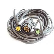 Arnés de cableado 5,5 m para luces de remolques + enchufe 7Pin