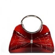 Dazzle BOWCRYSTAL Maroon Hand-held Bag