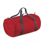 Bagbase Rode ronde polyester sporttas/weekendtas 32 liter