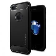Husa iPhone 7 si iPhone 8 Originala Spigen Rugged Armor Silicon Neagra