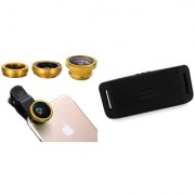 Mobile clip Lens & Y3 bluetooth speaker for all Smart phones||3 in 1 Lens|| Fish Eye Lens|| Macro Lens|| Wide Angle Lens Mobile Lens||Universal Mobile Lens ||Telescope Lens||Zoom Lens
