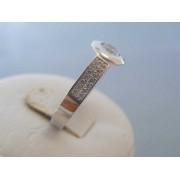 Zlatý dámsky prsteň biele zlato zirkóny DP56300B 14 karátov 585/1000 3.00g