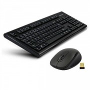 Tastatura + Mouse A4TECH 7100N; NEGRU; Layout: US; Conectare: WIRELESS;