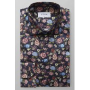 ETON Slim Fit Hemd navy, Blumen Herren 43 - XL navy