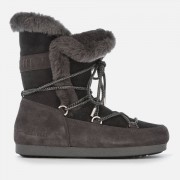 Moon Boot Women's High Shearling Boots - Anthracite - EU 40/UK 6.5 - Grey